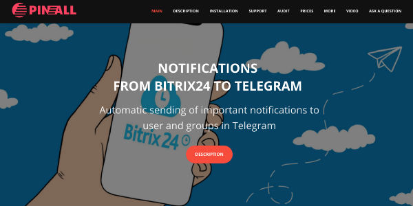 Automatic sending of important notifications from Bitrix24 to the user and groups in Telegram