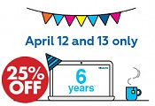 25% discount on Bitrix24 only today, on Thursday, April 12!